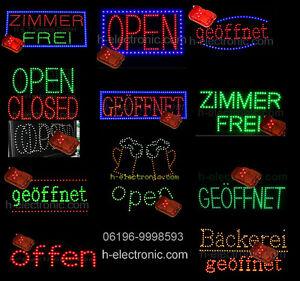 LED Regenschutz Wasserdicht Schild alle für Außen Reklame OPEN Geöffnet Offen