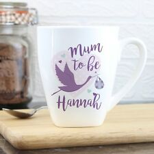 Personalised Mum to Be Stork Latte Mug - Expecting Mothers, Mummy, New Parent