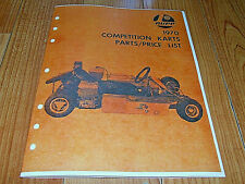 Vintage & Rare1970 RUPP COMPETITION KARTS PARTS / PRICE LIST MANUAL (6 PAGES)