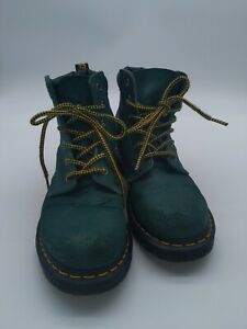 Dr Martens 939 Greasy Suede Ankle Boots Hiker Green Teal Women's Size 8