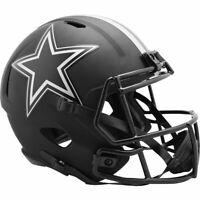 DALLAS COWBOYS Black Eclipse NFL Full Size Replica Football Helmet