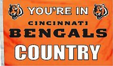 Cincinnati Bengals Huge 3'x5' Nfl Licensed Country Flag / Banner -Free Shipping