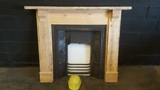 Reclaimed Cast Iron Fireplace with Pine Surround