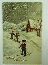 "1938 Germany Xmas postcard Elfingen to BC Nickel Mine Choate BC ""D"" PO F-VF"