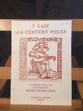 Pieter van der staak 7 pieces faciles 16e siècle partition guitare Broekmans