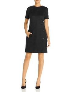 Elie Tahari Bridgett Short-Sleeve Sueded Shift Dress $298 Size 6 # 21A 318 NEW