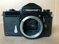 Nikon Black Paint Nikkormat Ftn 35mm Slr Film Camera - Working