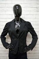 Giacca BENETTON Donna Taglia Size XS Maglia Blazer Jacket Woman Nero Cotone
