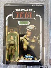 UK Graded85 Star Wars ROTJ Princess Leia Organa Combat Poncho MOC Kenner 77 Back