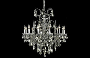 Athena Collection Chandelier Pewter Finish 12Lt