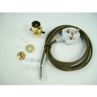 Lamp Kit 1 with Brass Switched Lampholder For Wooden Lamp Base [KIT1B]