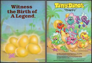 TINY DINOS__Original 1987 Trade AD / ADVERT__Guy Gilchrist__LJN__Illco__plush