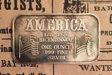 Fortune Mint Bicentennial FOR-1 RARE 1 Troy oz 999 Silver Art Bar Collectible