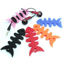 New 10pcs Random Colour Fish Bone Cable Winder Organizer For Earphone MP4 iPhone