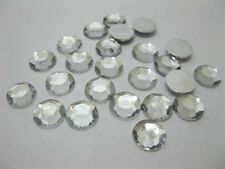 200 Silver Flat Back Diamonds Rhinestones 14mm