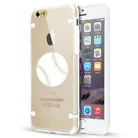 For Apple iPhone SE 5s 6 6s 7 8 Plus Clear TPU Hard Case Cover Baseball Softball