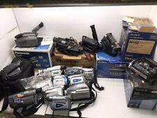 Lot 16 Camcorders Parts Repair Panasonic Sony Samsung Jvc 8mm Vhs Vhsc Digital