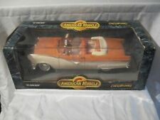 1:18 Diecast Car ~ Ertl American Muscle ~ '56 Sunliner ~ White and Orange