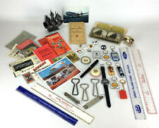 Vintage Mixed Junk Draw Lot Advertisements, Keychains, Pins, Rulers and More