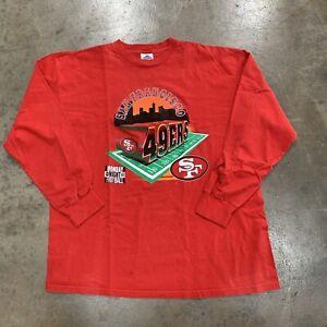 Vintage 1995 League Leader San Francisco 49ers ABC MNF Longsleeve Shirt Men's