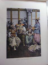 TUNISIE:Gravure 19°in folio couleur/ Femmes Tunisiennes (anciens costume)