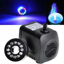 Pompes Submersibles pour fontaine AC/220V~240V 15W 800L / H max 160cm avec LED