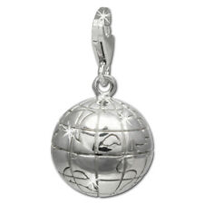 SilberDream Charm Weltkugel 925er Silber Armband Anhänger FC724I
