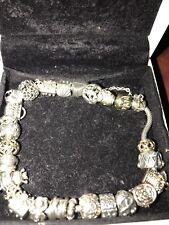 Pandora bracelet with charms 14k gold