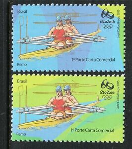BRAZIL 2016 RIO OLYMPIC GAMES - ROWING 2 different Stamps MNH