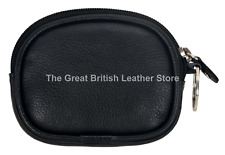 Unisex Zip Coin Purse Key Holder Small Soft Real Leather Pouch Wallet