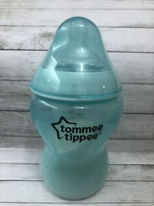 Reborn Baby Doll Fake Milk Formula Tommee Tippee 9oz Bottle Aqua