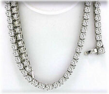 14.5 ct, Round Diamond Tennis Necklace 4 prong 14k White Gold 94 x 0.15 ct each