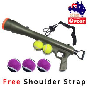 Pet Dog Tennis Ball Gun Launcher Thrower Outdoor Play Fetch Interactive Dog Toy