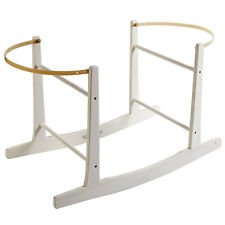 Brand New-Deluxe Moses Basket Rocking Stand White