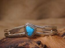 Navajo Sterling Silver and Candelaria Turquoise sweater Bracelet