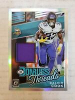 Dalvin Cook 2019 Optic Donruss Threads Jersey Minnesota Vikings #33