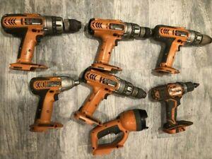 Lot of Ridgid Bare Tool R82015 R86008 R849 R841150 R82320 12v 14.4v Drill