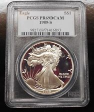 1989-S PROOF SILVER EAGLE ~ PCGS PR69 ~ FREE SHIPPING