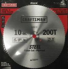 "Craftsman 26811 10"" x 200 Tooth Saw Blade Crosscut/Plywood"