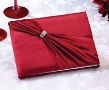 Lillian Rose Wedding Rhinestone Guest Book, 8-Inch, Red GB610R