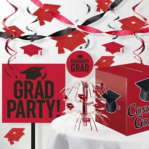 Red Graduation Decorations Kit