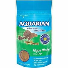 Aquarian Algae Wafers 28g Pleco Bottom Feeder Nutrition Food Fish Tank Aquarium