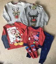 Boys 18-24 Months 1.5-2 Years Christmas Xmas Jumper Top Pyjamas Bundle M&S Peppa