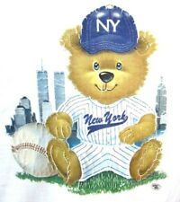 New York Yankees T Shirt vintage 1990s field bear Twin Towers World Trade Center