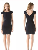Diane von Furstenberg Helen Cap Sleeve Bodycon Dress Black Size 0