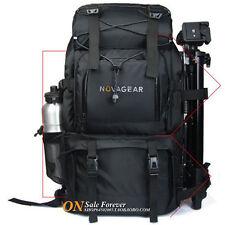 """Waterproof DSLR Camera Backpack Bag + A Shoulder Bag 17"""" Laptop Travel Rucksack"""