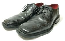 Kenneth Cole New York Mens Sz 11 Black Lace Up Dress Shoes Leather Square Toe