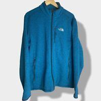 The North Face - Vintage Mens Blue Zip Up Fleece - Size Large L