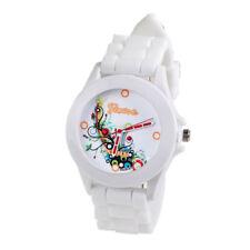 Fashion Solid Silicone Rubber Jelly Gel Quartz Analog Sports Women Wrist Watch