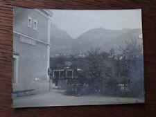 Photographie ancienne 1905 Gare Ugine Car-Alpin du Fayet haute-Savoie